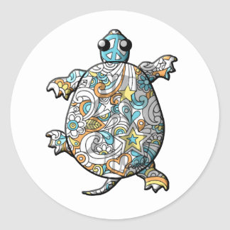 Psychedelic Classic Round Sticker