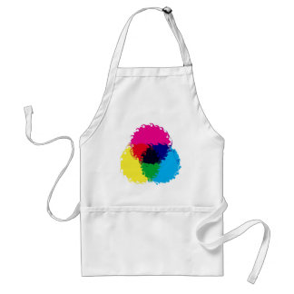 Psychedelic CMYK Adult Apron