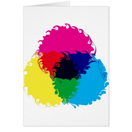 Psychedelic CMYK Card