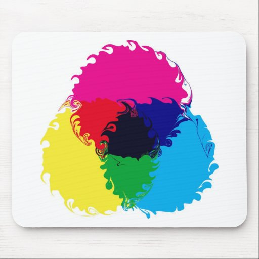 Psychedelic CMYK Mouse Pad