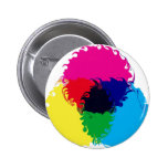 Psychedelic CMYK Pinback Button
