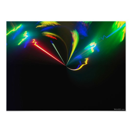 psychedelic color explosion poster