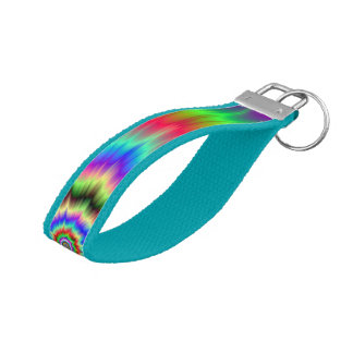 Psychedelic Color Explosion Wrist Keychain