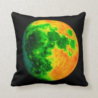 psychedelic color moon