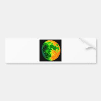 psychedelic color moon bumper sticker
