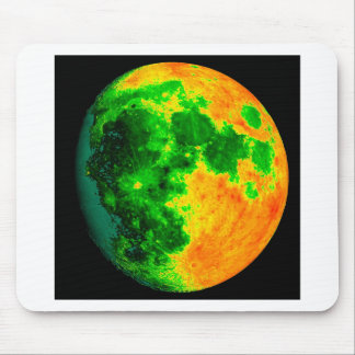 psychedelic color moon mouse pad