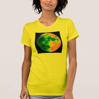 psychedelic color moon tee shirts