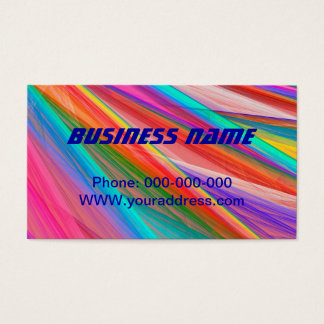 Psychedelic Colorful Abstract Fractal Art Business Card