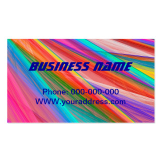 Psychedelic Colorful Abstract Fractal Art Double-Sided Standard Business Cards (Pack Of 100)