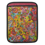 Psychedelic Colorful Abstract iPad Sleeve
