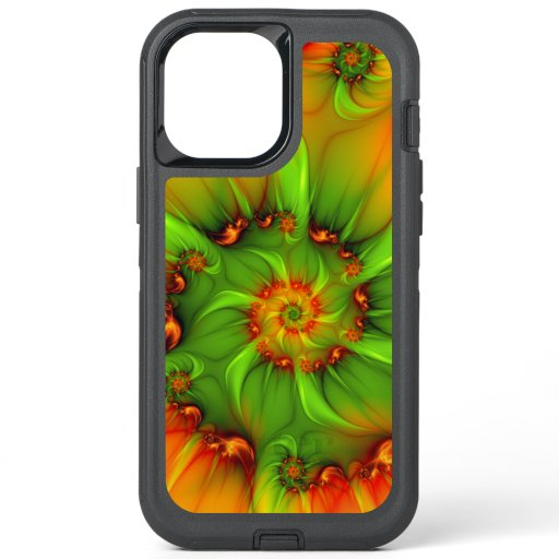 Psychedelic Colorful Modern Abstract Fractal Art OtterBox Defender iPhone 12 Pro Max Case