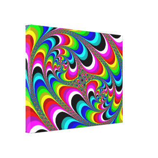 Psychedelic Colorful Spiracell Tapestry Poster Canvas Print