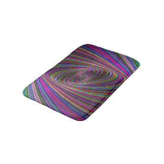 Psychedelic colors bath mat