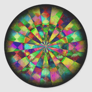 Psychedelic colors by Valxart.com Classic Round Sticker