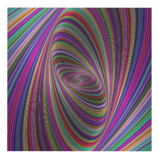 Psychedelic colors panel wall art
