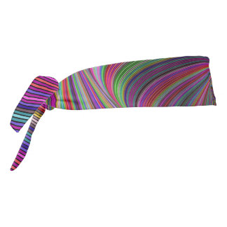 Psychedelic colors tie headband