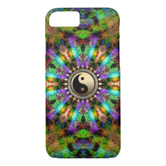 Psychedelic Colours Gold YinYang iPhone 7 Case