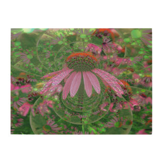 Psychedelic Cone Flowers Wood Print