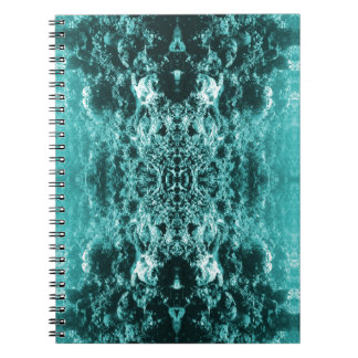 Psychedelic Coral Reef Symetry Notebook