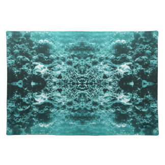 Psychedelic Coral Reef Symetry Cloth Placemat