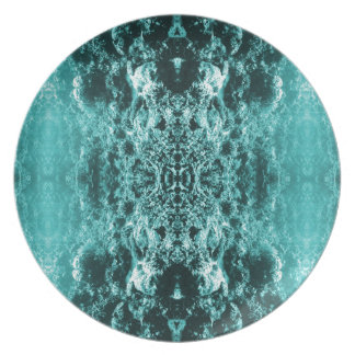 Psychedelic Coral Reef Symetry Dinner Plates