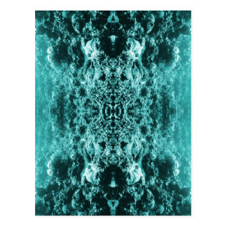 Psychedelic Coral Reef Symetry Postcard