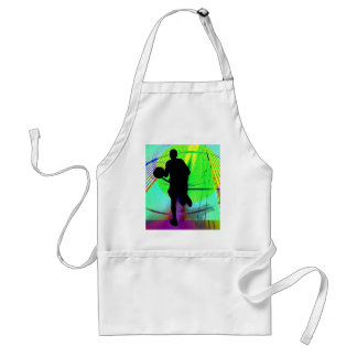 Psychedelic Court Basketball Adult Apron