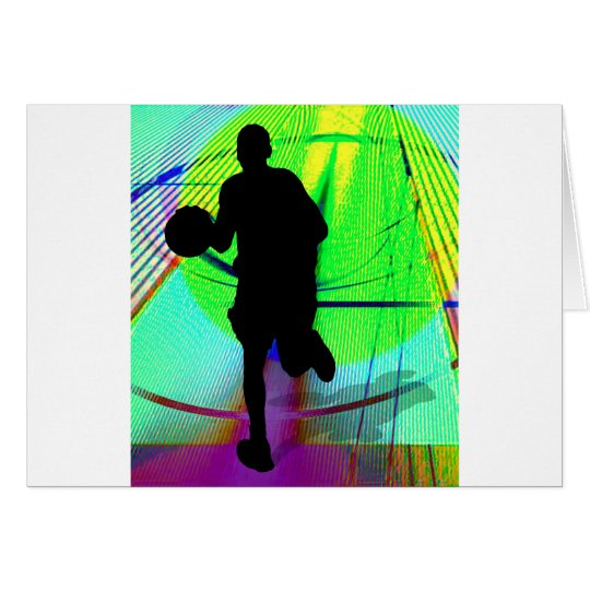 Psychedelic Court Basketball Card