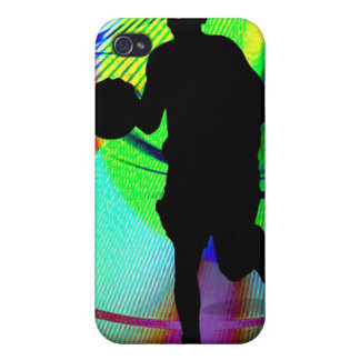 Psychedelic Court Basketball Cover For iPhone 4