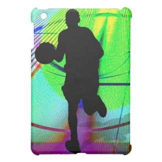 Psychedelic Court Basketball iPad Mini Cases