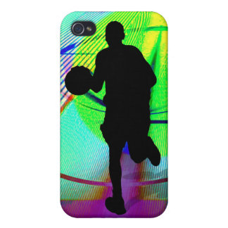 Psychedelic Court Basketball iPhone 4 Cover