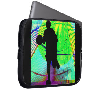 Psychedelic Court Basketball Laptop Computer Sleeves