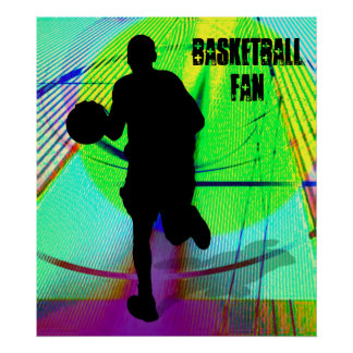 Psychedelic Court Basketball Poster