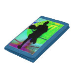 Psychedelic Court Basketball Tri-fold Wallets