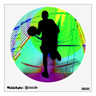 Psychedelic Court Basketball Wall Decal