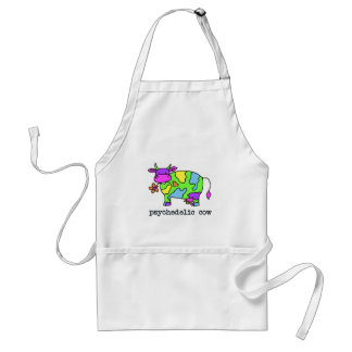 psychedelic cow adult apron