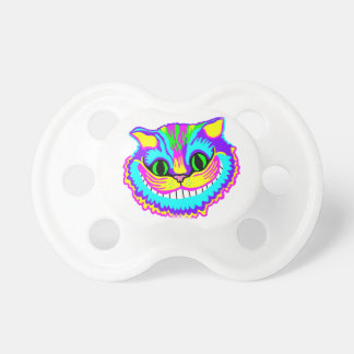 Psychedelic Crazy Smiling Cat Pacifier
