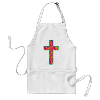 Psychedelic Cross Adult Apron
