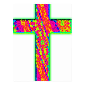 Psychedelic Cross Postcard