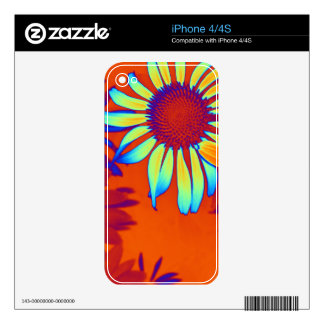 Psychedelic Daisies Decal For The iPhone 4S