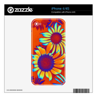 Psychedelic Daisies iPhone 4 Decals