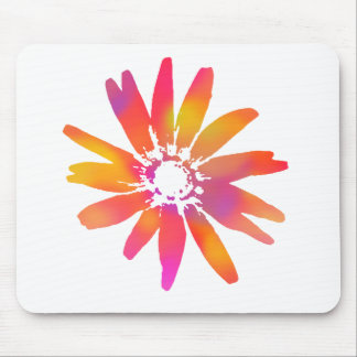 Psychedelic Daisy Mouse Pad