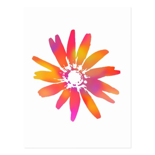 Psychedelic Daisy Postcard