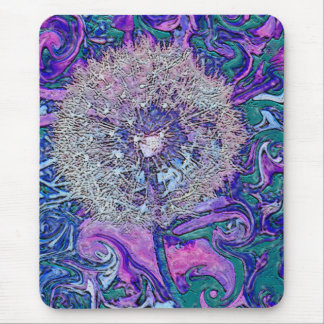 psychedelic dandelion mouse pad