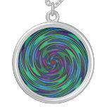 Psychedelic Dark Swirls Custom Jewelry