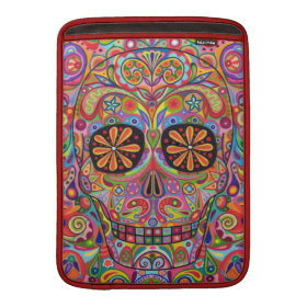 Psychedelic Day of the Dead Macbook Air Sleeve