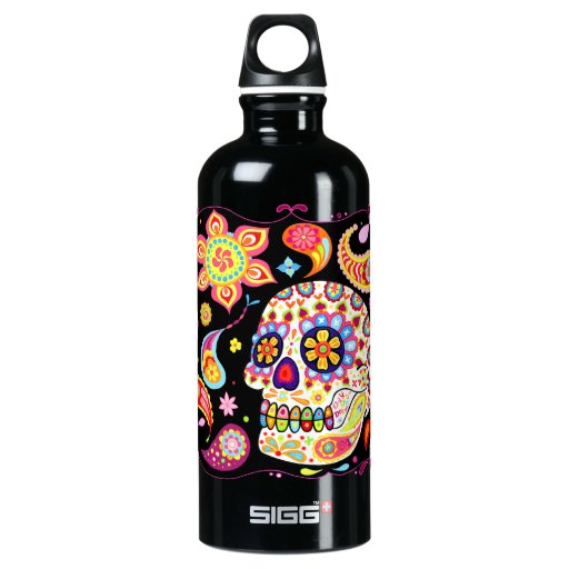 Psychedelic Day of the Dead SIGG Traveler 0.6L Water Bottle