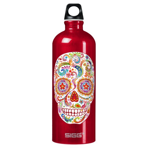 Psychedelic Day of the Dead Skull SIGG Traveler 1.0L Water ...