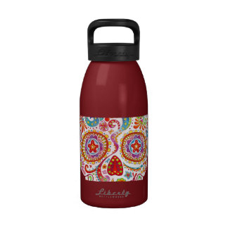 Psychedelic Day of the Dead Skull Water Bottle Reusable Water Bottle