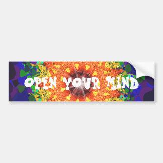 Psychedelic Design Car Bumper Sticker